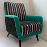Fotel z różnych włoskich materiałów, SPRZEDANY