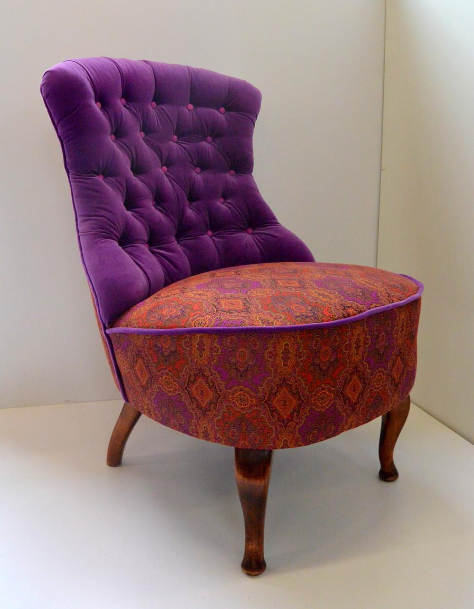 Fotel stylizowany, włoskie materiały, 1800zł
