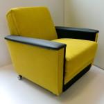Fotel na kółkach, włoskie materiały, 2200zł
