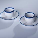 BLUE LINE filiżanka espresso 0,10l + spodek, porcelana, kobalt, Modus Desig, 41zł