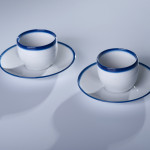 BLUE LINE filiżanka latte 0,35l + spodek 17cm, porcelana, kobalt, 59zł