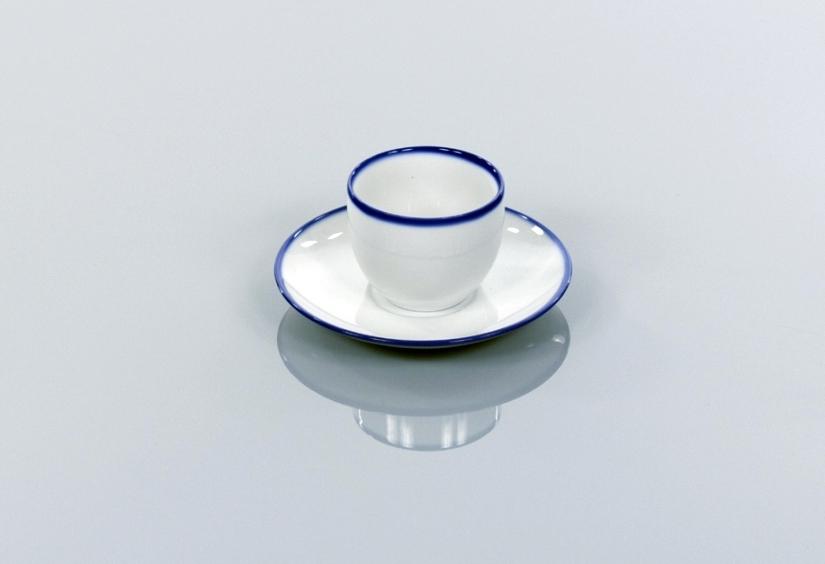 BLUE LINE filiżanka na herbatę 0,25l + spodek 15,7cm, porcelana, kobalt, Modus Design, 48zł