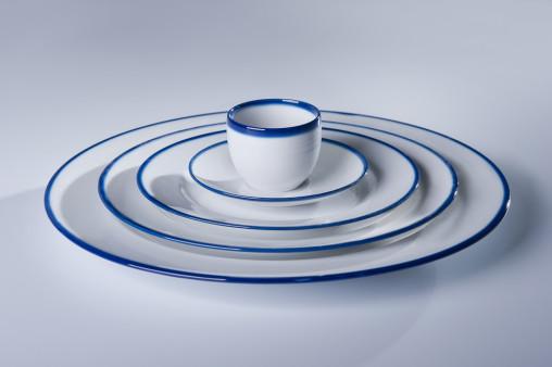 BLUE LINE komplet 6 talerzy płytkich obiadowych 26cm, porcelana, kobalt, Modus Design, 228zł, 39zł szt