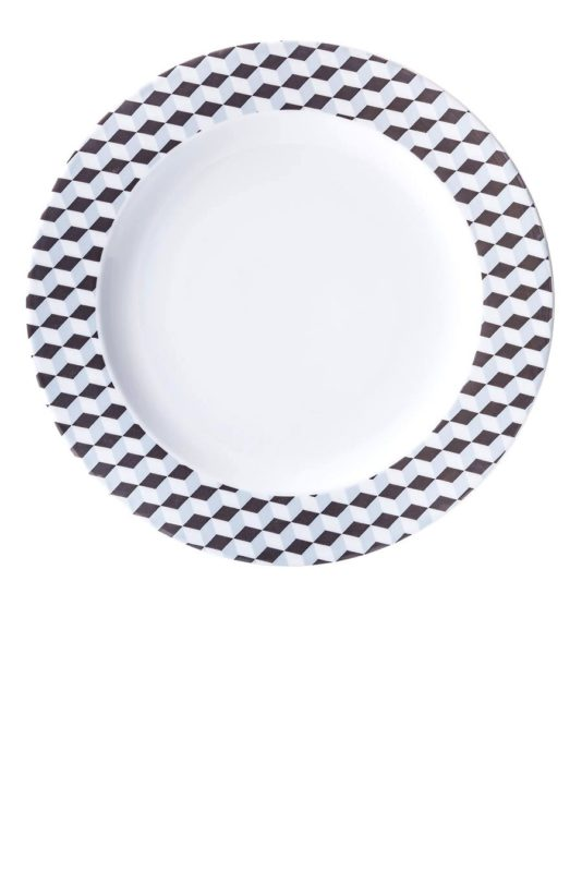 Cosmopolitan kubiki, półmisek okrągły, porcelana, Modus Design, 49zł