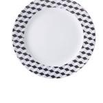 Cosmopolitan kubiki, talerz płytki obiadowy, 26cm, porcelana, Modus Design, 29zł