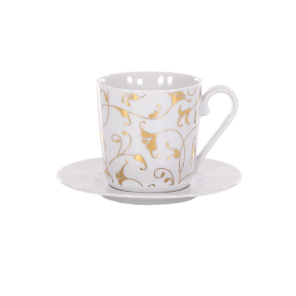 Cosmopolitan oriental złoty, filiżanka ze spodkiem, porcelana, Modus Design 35zł