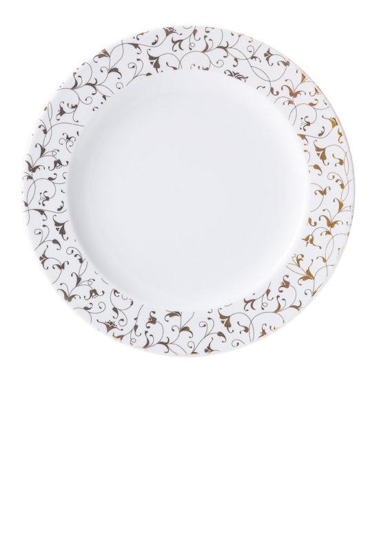 Cosmopolitan oriental złoty, połmisek, porcelana, Modus Design, 49zł