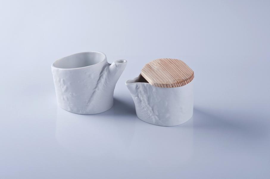 NATURA mlecznik i cukiernica, porcelana, Modus Design, 175zł