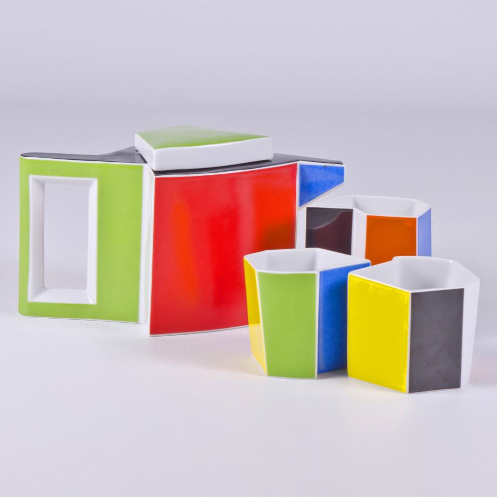 Qubus II, zestaw do herbaty, porcelana, Modus Design, 369zł