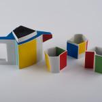 Qubus II, zestaw do herbaty, porcelana, Modus Design, sprzedane