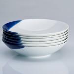 TOUCH OF BLUE - komplet 6 talerzy głębokich 21,5 cm, porcelana, kobalt, Modus Design, 215zł