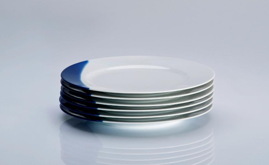 TOUCH OF BLUE - komplet 6 talerzy płytkich śniadaniowych  21cm, porcelana, Modus Design, 174zł
