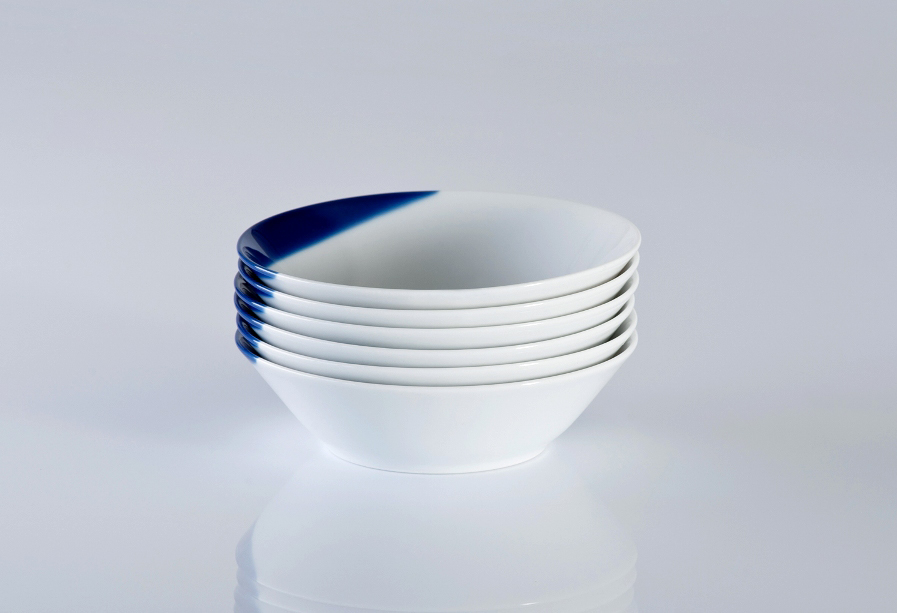 TOUCH OF BLUE salaterka mała 15cm, porcelana, Modus Design, 35zł