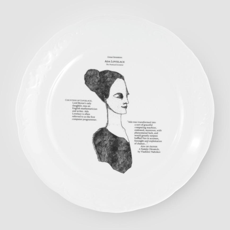 Kristoff, porcelana, Greatinventors talerz płytki 26cm, 59zł