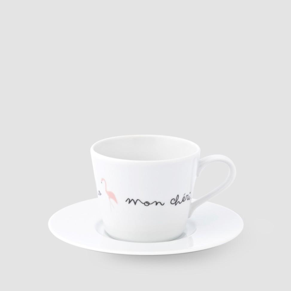 Kristoff, porcelana, filiżanka flaming 220ml, 44zł