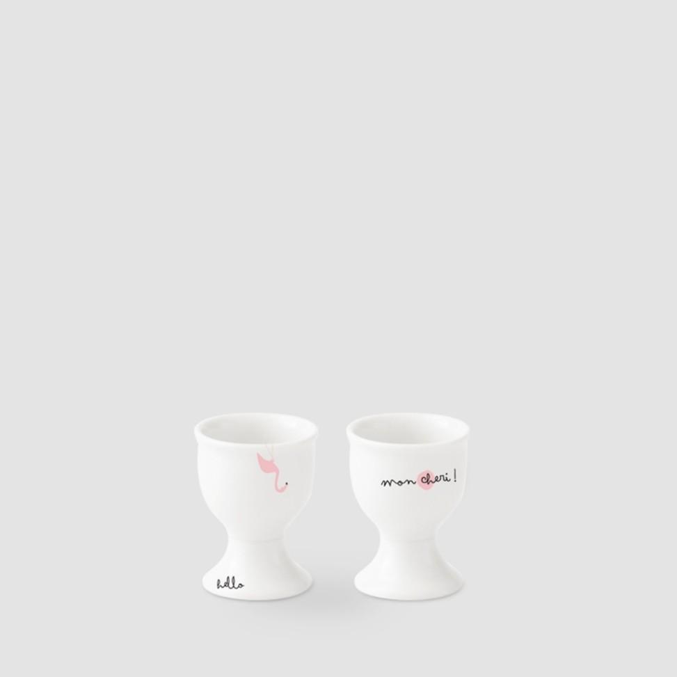 Kristoff, porcelana, kieliszek na jajko na nóżce flaming, 19zł
