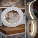 lampa pierścien biała, 350zł
