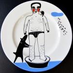 Talerz ceramiczny 29cm, sprzedany