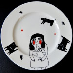 Talerz ceramiczny 29cm,sprzedany