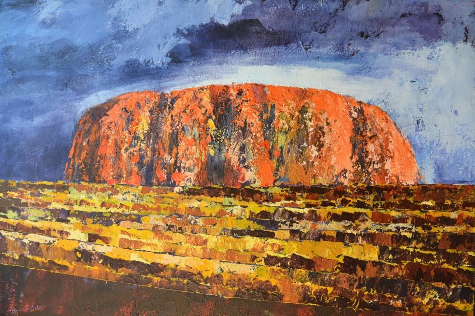 Ayers Rock, 90x120cm, 3500zł