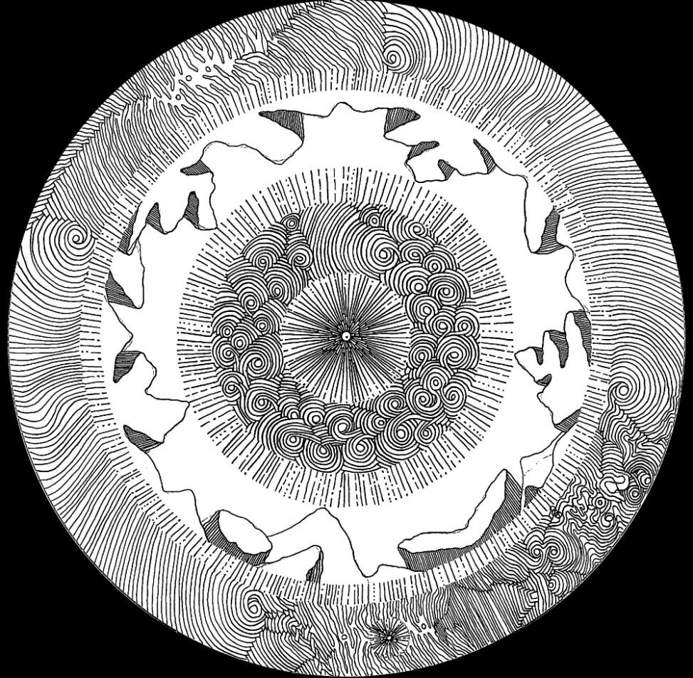 Kartografia Snów 1.1, cienkopis na papierze, A3