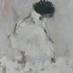 Baletnica, 125cmx107cm, akryl na lnie, Rezerwacja