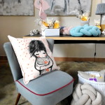 Poduszka ręcznie malowana