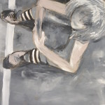 Chłopak, 125cmx107cm, akryl na lnie