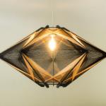 Lampa czarno-pomarańczowa, h:47cm, śr. 90cm, 1620zł
