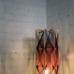 Lampa stojąca  bordowo-czarna,h:53cm, śr.23cm, 740zł