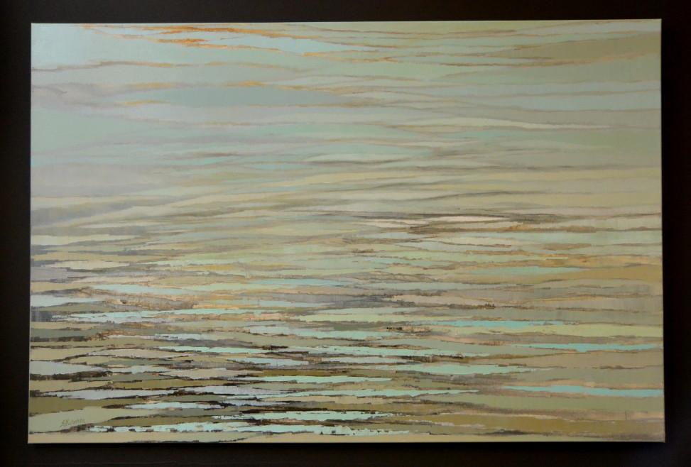 """""""Jezioro"""", akryl, 100cm x 150cm,  3200zł"""