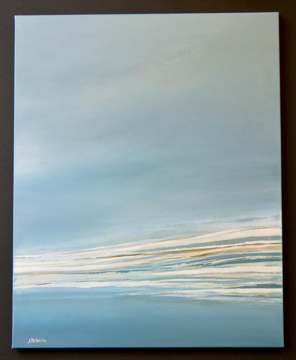 """""""Wzburzone morze"""" akryl, 70cm x 150cm, 2300zł"""