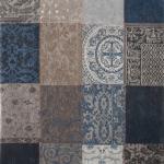Dywan naturalny 140x200 cm Vintage Patchwork Blue, bawełna.